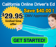 California Online Driver Education $29.95 DMV Approved #4560 Certificate included