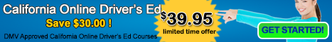 California Online Driver Education $69.95 DMV Approved #4560 Certificate included