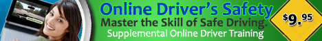 Online Driver Safety Course $9.95 Supplemental Driver Training
