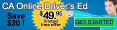 California Online Driver Education $49.95 DMV Approved #4560 Certificate included